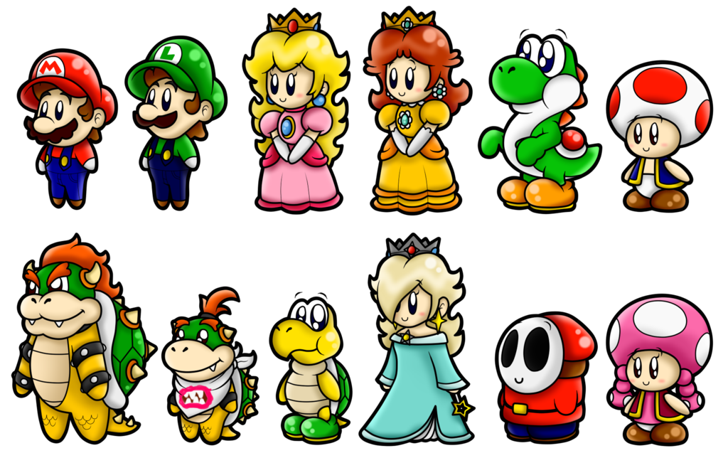 super mario cute characters