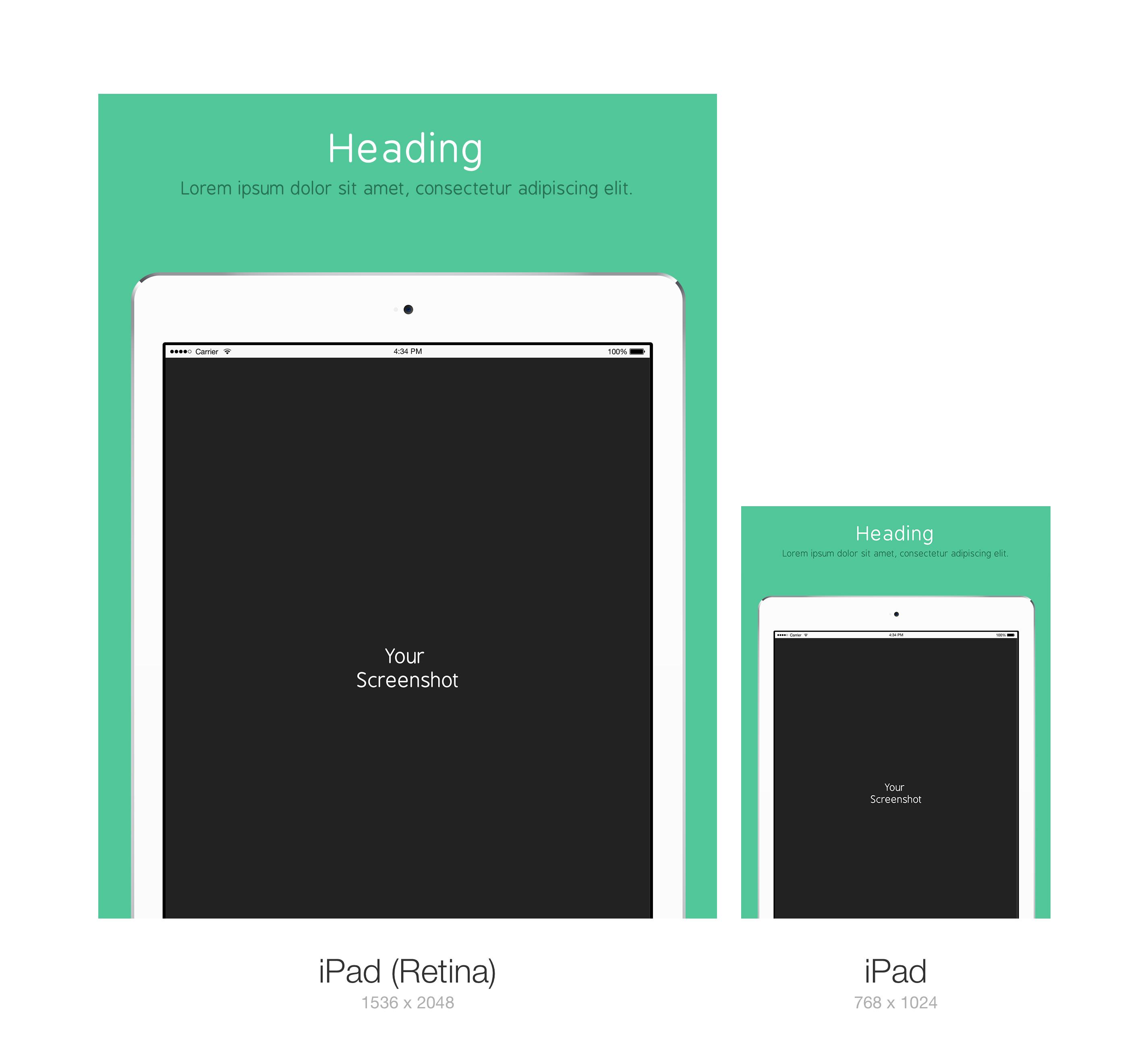 Apple Product Mockup PSD Design ipad