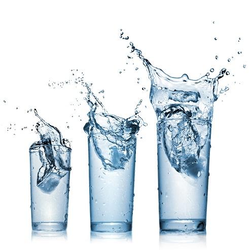 blue color water splash on white background