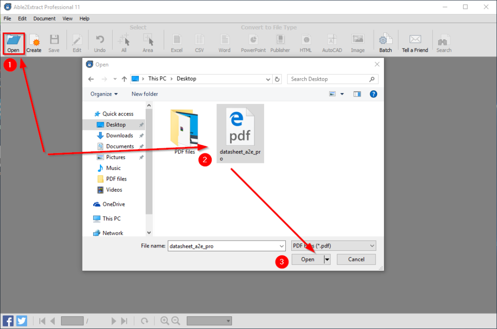 Edit PDF Content Step 1 Open-PDF