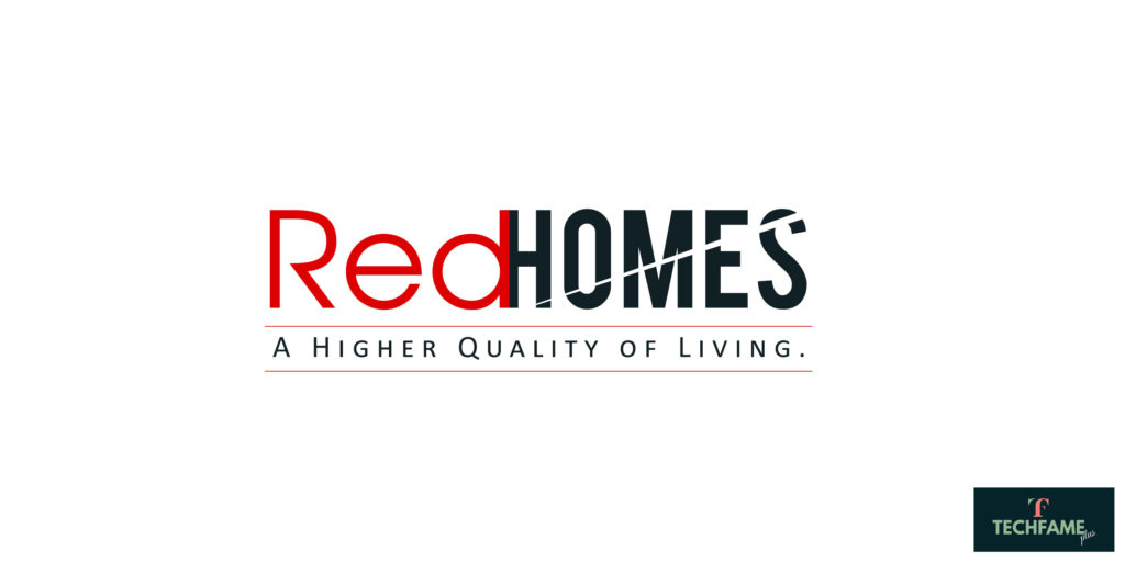 Red Homes Real Estate PSD Logo Design