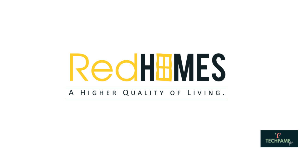 Red Real Estate PSD Logo Design