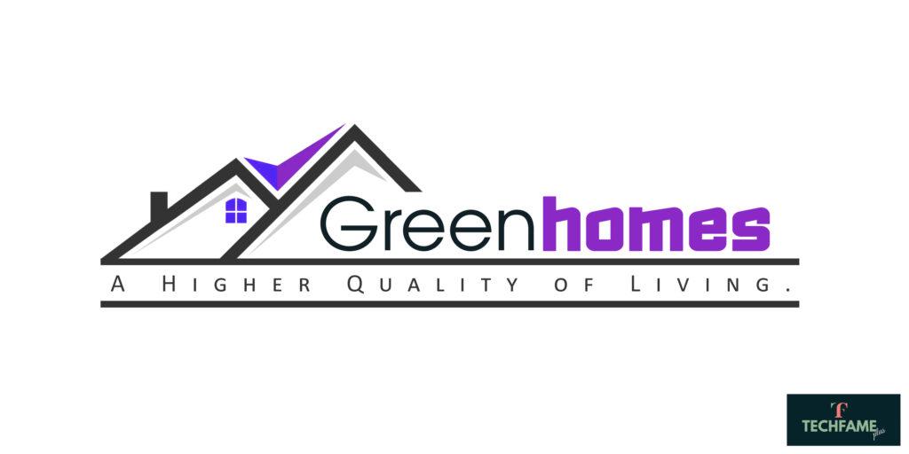 The Green Homes Real Estate PSD Logo Design