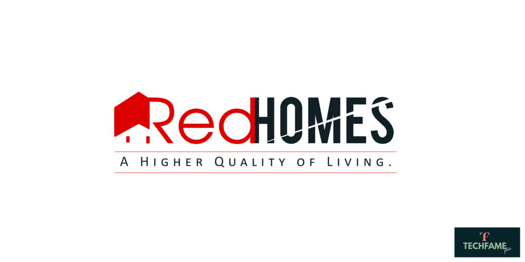 The Red Homes Real Estate PSD Logo Design