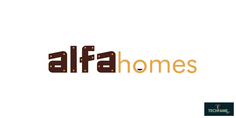 alfa Homes Real Estate PSD Logo Design