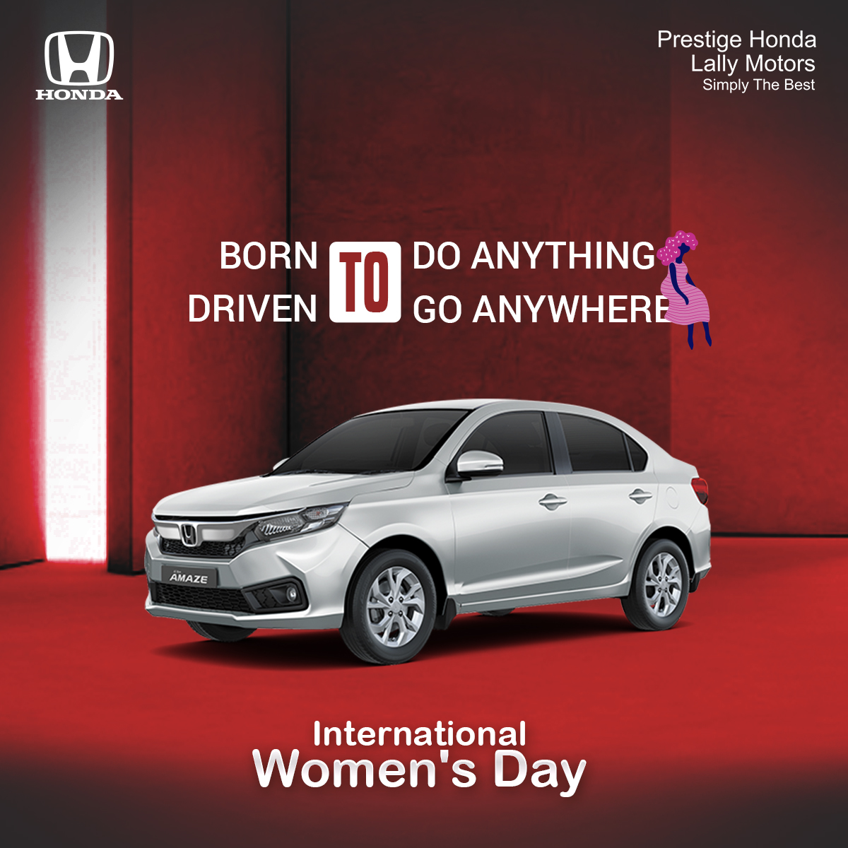 Honda Creatives Design for International Women's Day