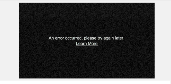 online video player upload error